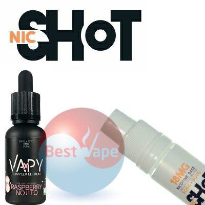 VAPY Raspberry Nojito Nic Shot 18mg