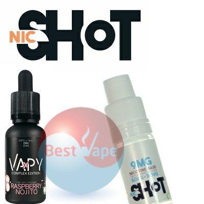 VAPY Raspberry Nojito Nic Shot 9mg