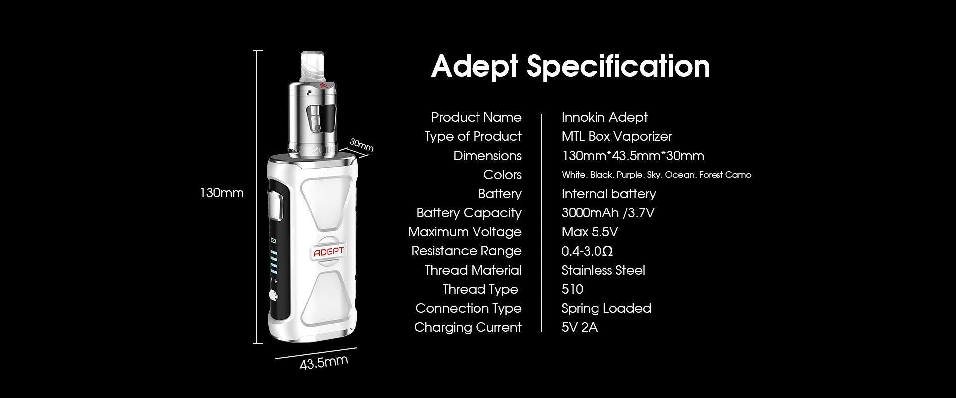 Adept Specifications