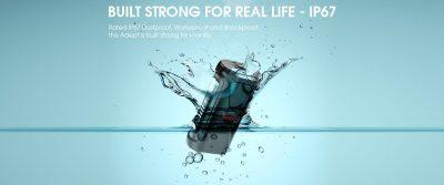 Adept waterproof dustproof and shockproof battery