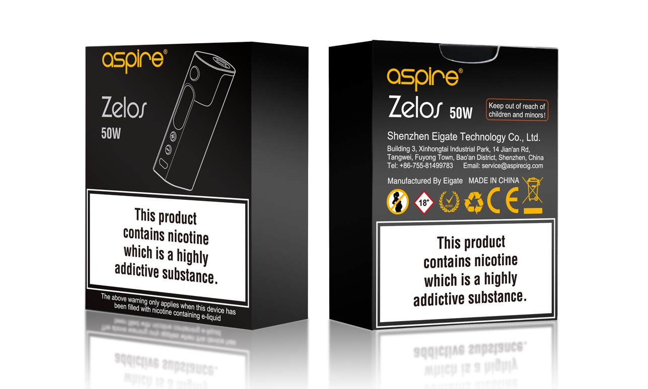 Aspire Zelos Mod - Packaging